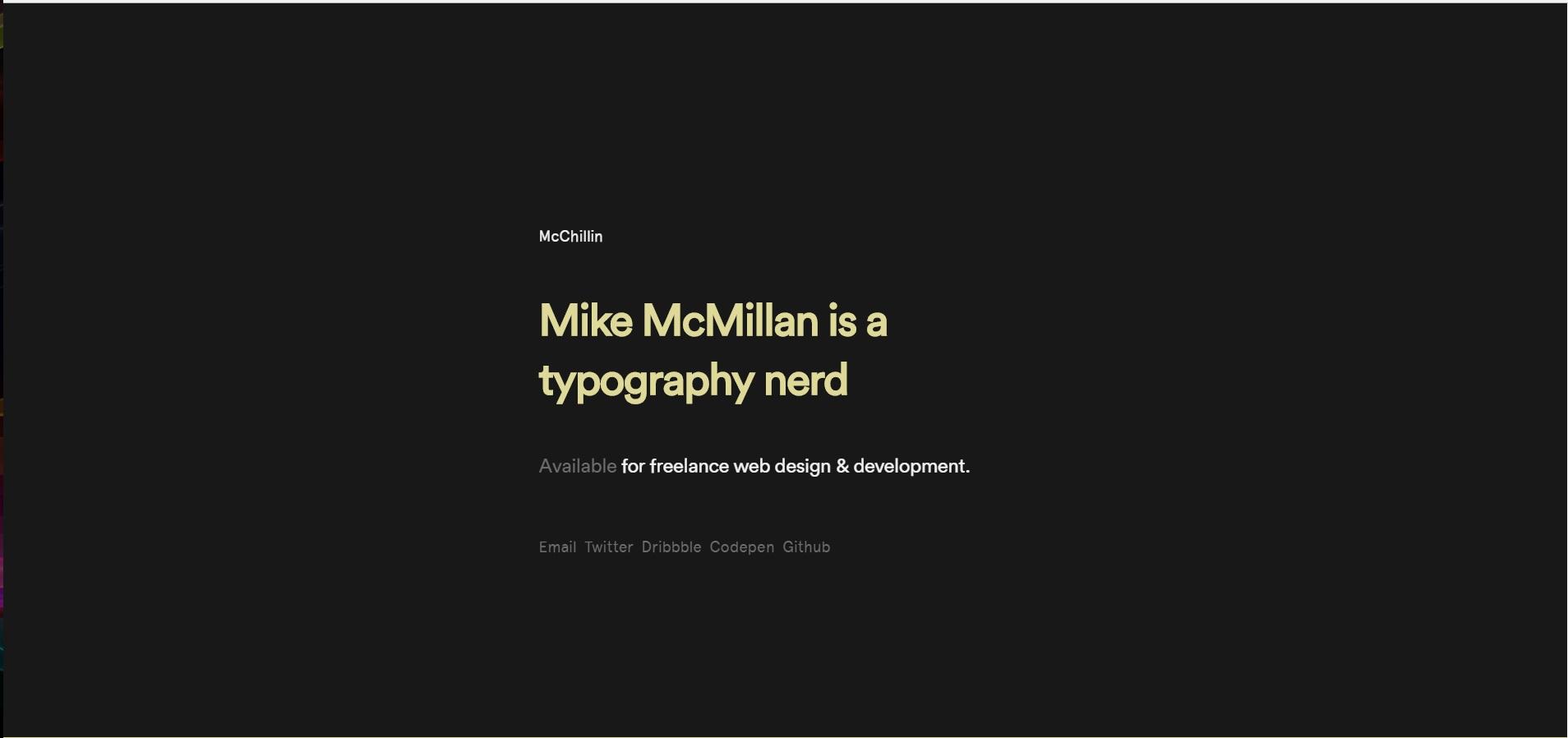 trendy web design 2018 - typografia 2