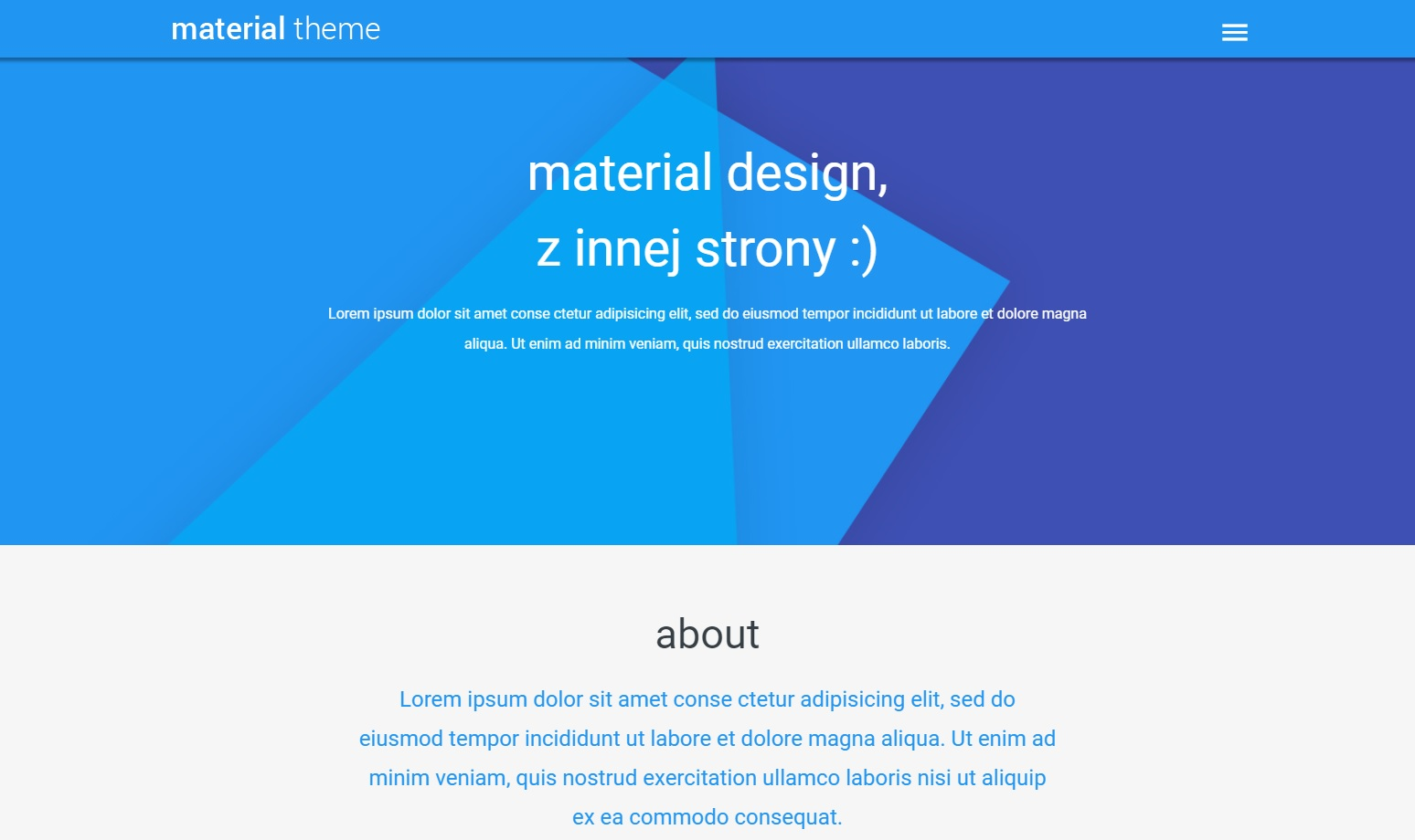 trendy web design 2018 - material design 1