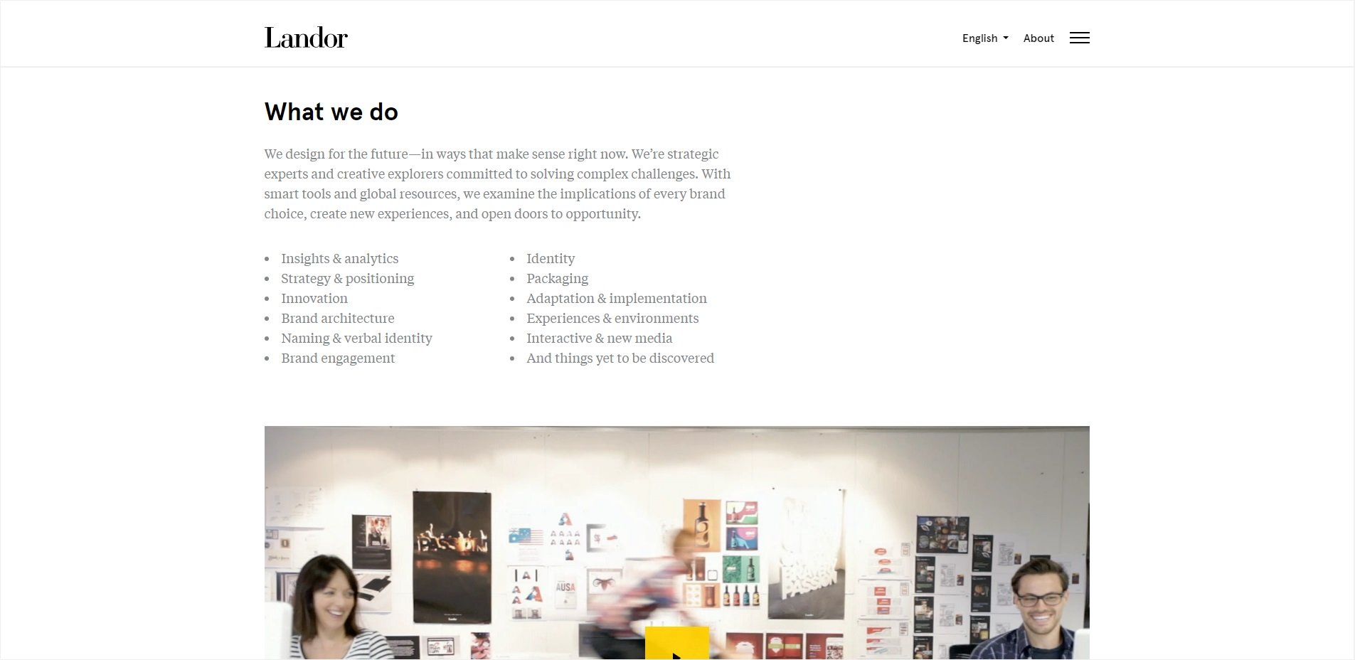 trendy web design 2018 - minimalizm
