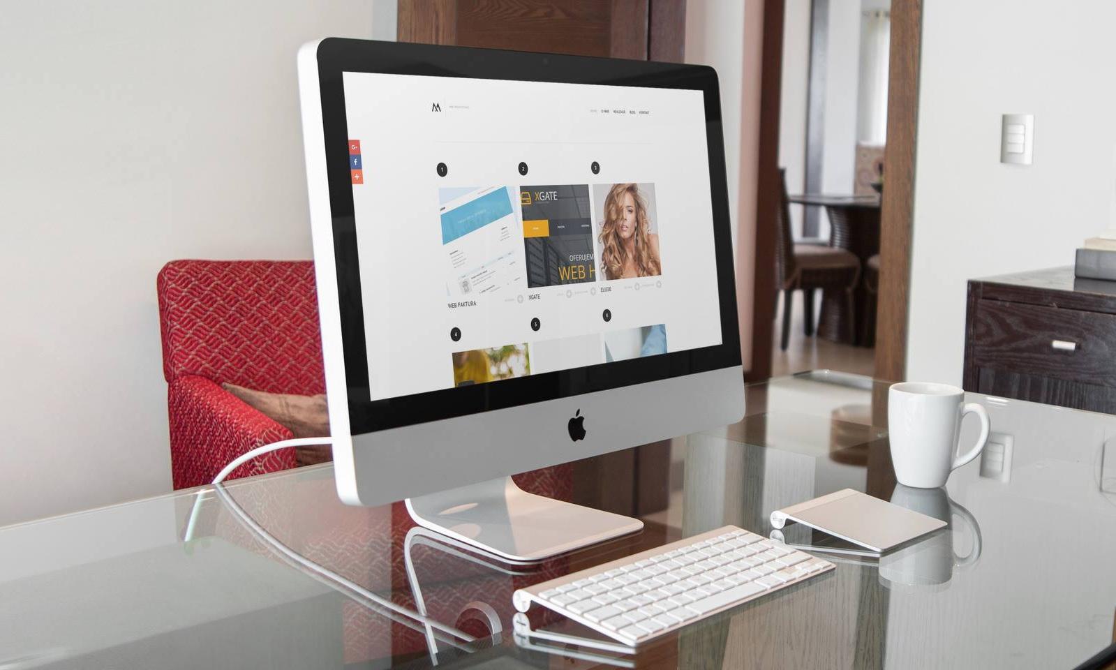 projekt strony głównej - web design