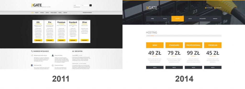 przykład redesignu strony